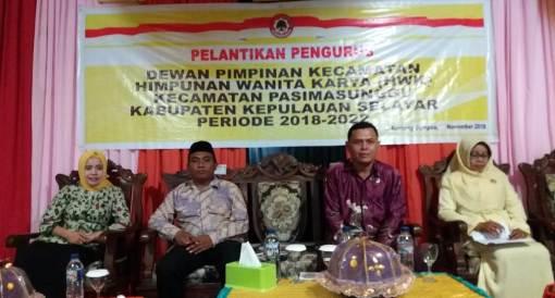 Pengurus HWK Kec. Pasimasunggu, Periode 2018 - 2022 Resmi Dilantik