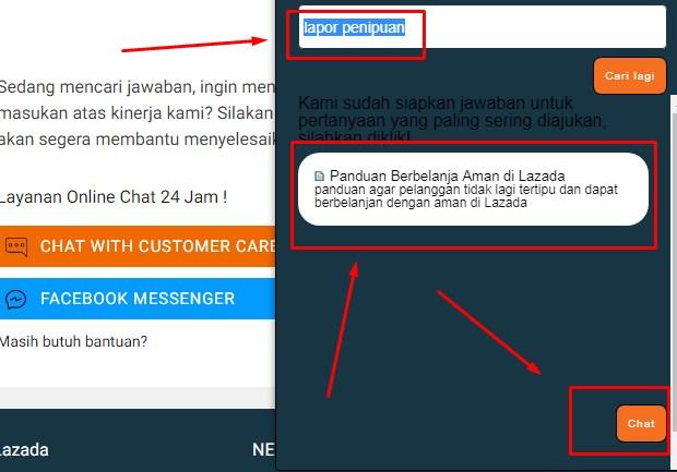 Customer Service Lazada Via Live Chatting Terbaru 2019 iii