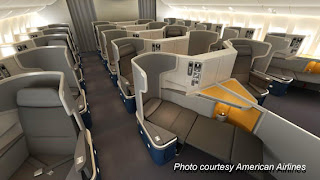Business Class seats on American Airlines 777-300ER