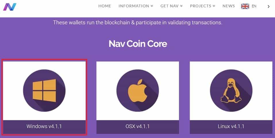 Comprar NAV COIN y almacenar en monedero