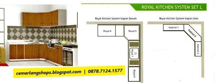 Toko cemerlang royal kitchen system set l for Royal kitchen set harga