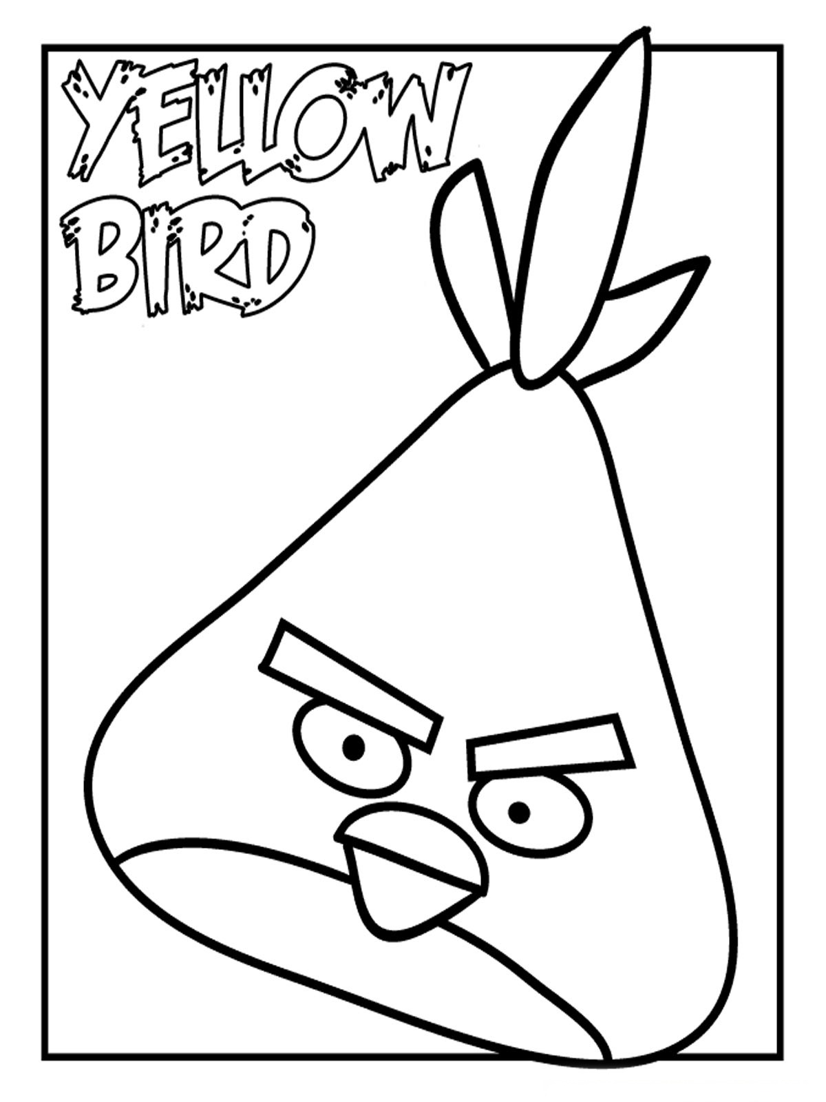 Angry Birds Coloring Pages For Kids Realistic Coloring Pages