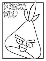 Yellow Angry Birds Kids Coloring Pages Printable