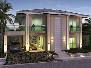 Lampung interior house - picture of a minimalist 2-storey luxury house design