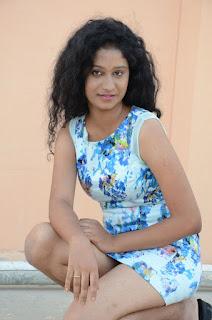 Actress Priyankha Stills in Floral Short Dress at Golmal Gullu Movie Pressmeet 0262.JPG