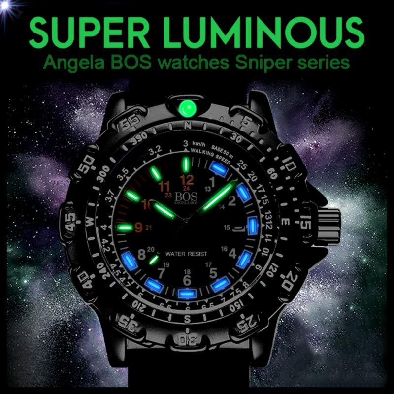 ca2fbcf46127 ... giratorio brújula ejército aleación de silicona hombres del reloj de  lujo famosa marca. Evaluar su precio barato con mejor precio tienda en  línea.