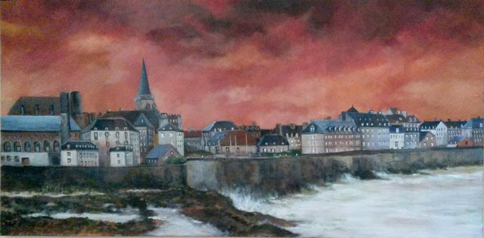 Kathy bosc artiste peintre aquarelles et toiles de bretagne for B b saint malo