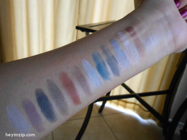 Smokey LA Colors Eyeshadow Palette Swatches