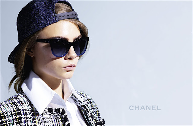 Cara Delevingne by Karl Lagerfeld for Chanel Eyewear Spring 2016