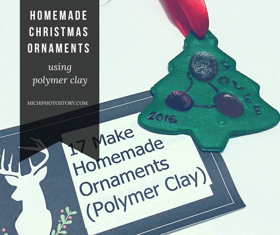 Michi Photostory: How to Make Polymer Clay Christmas Ornaments