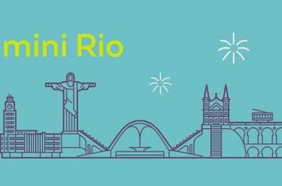 Imagem da capa - O projeto do Minirio, onde aparece: sambodramo, cristo redentor, central do Brasil, Bonde da Lapa. Tudo a traça.