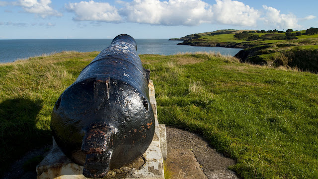 Cannon near the Black Castle in County Wicklow