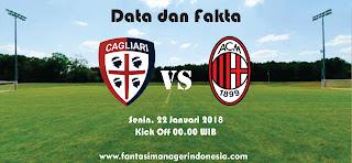 Data dan Fakta Liga Fantasia Serie A Cagliari vs AC Milan Fantasi Manager Indonesia