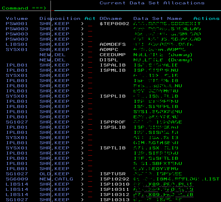 Ispf Commands In Mainframe