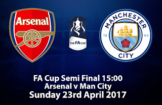 Prediksi Arsenal vs Manchester City - Semifinal Piala FA 23 April 2017
