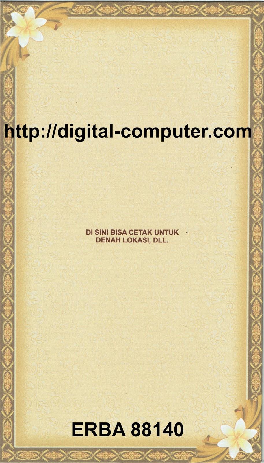 Undangan Softcover ERBA 88140