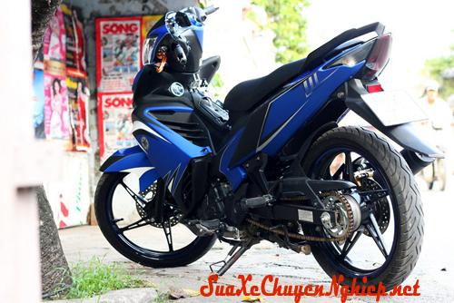 Yamaha Exciter sơn phối màu nhám xanh Gp