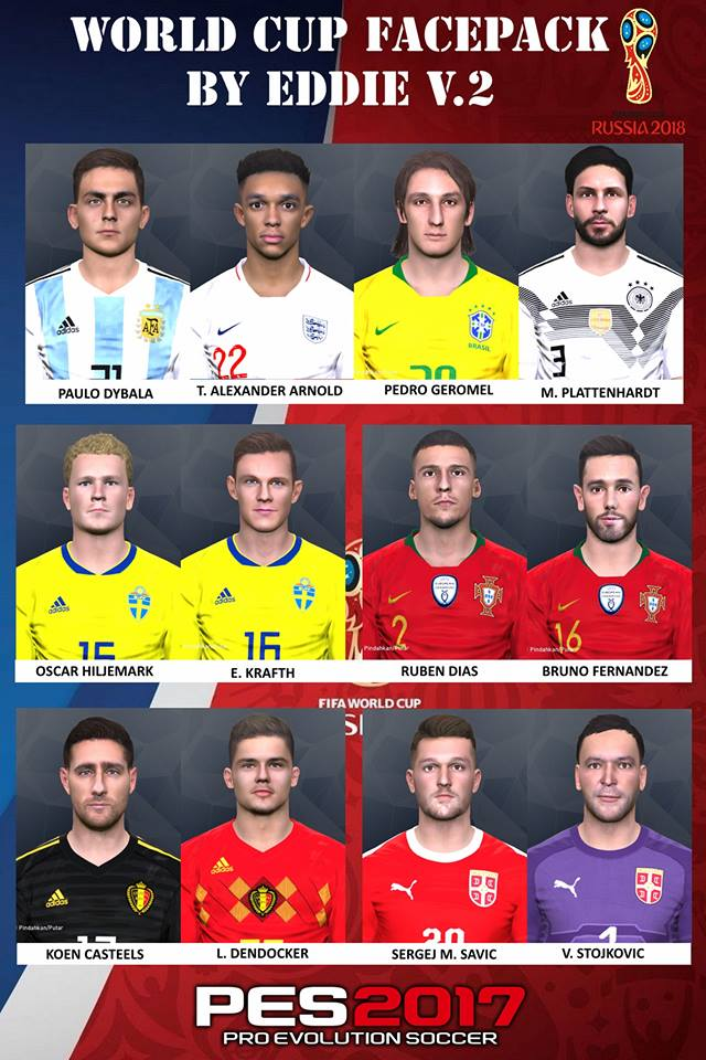 PES 2017 World Cup Facepack V.2 by Eddie Facemakers