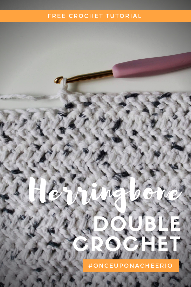 Herringbone Double Crochet Stitch Tutorial