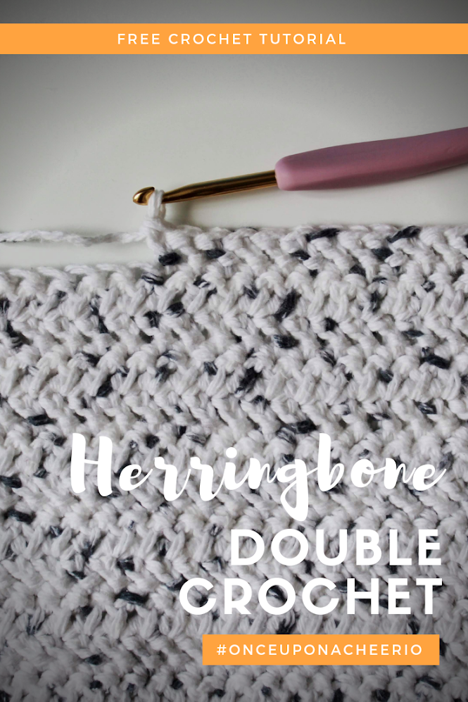 How to Crochet the Herringbone Double Crochet Stitch (HBDC)