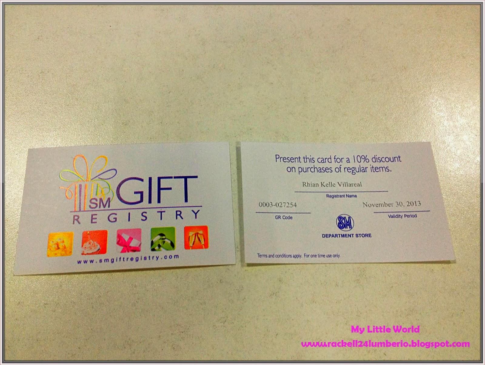 SM Gift Registry Best Of Gift Registry