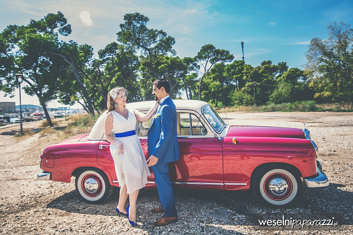 Auto do ślubu w stylu lat 50