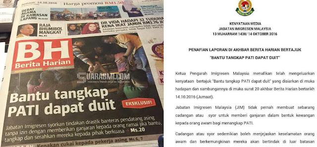 Siapapun yang Bantu Laporkan TKA Ilegal Di Malaysia Dapat Duit, Is Not True