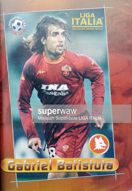 PIN UP GABRIEL BATISTUTA (AS ROMA)