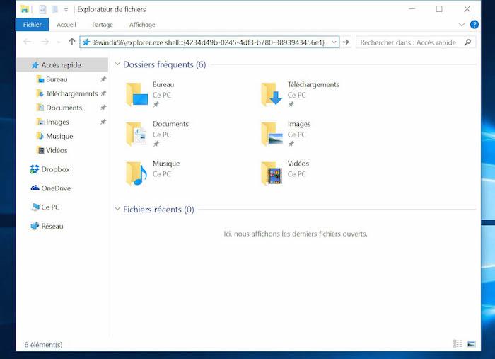 Cr er un raccourci sur le bureau windows 10 astucesinformatique - Windows 7 icone bureau disparu ...