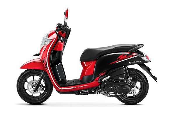 Honda Scoopy eSP warna Sporty red
