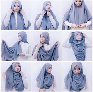 Tutorial hijab pashmina simple tanpa ninja tanpa jarum