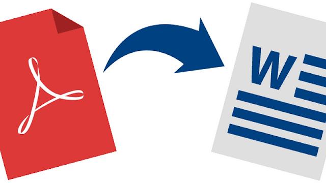 cara convert pdf ke word dan sebaliknya