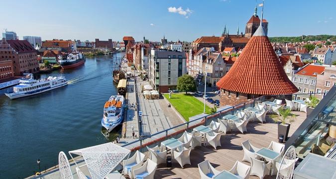 La ciudad turística de Gdansk en Polonia