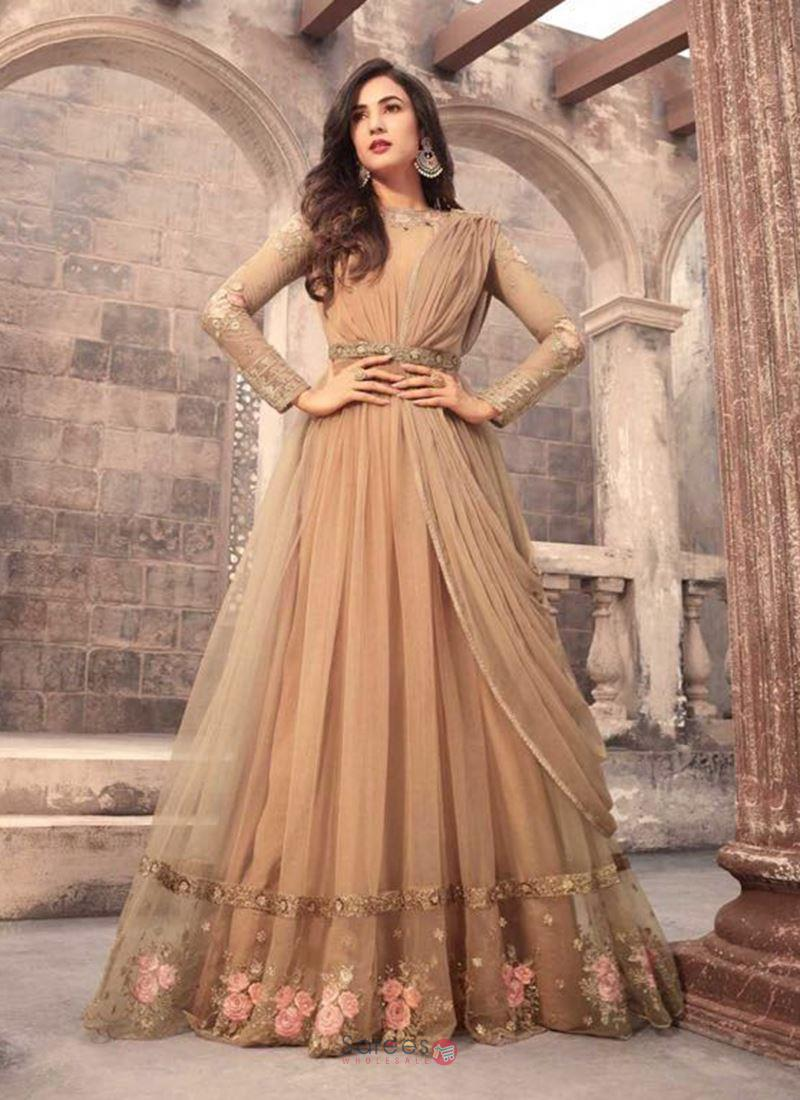 a0f0029a21 Fashion and dresses have always carried a different meaning of style for  every individual. Long Anarkali Suits will win the fashion game this year  2018.