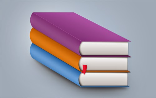 Three Color Books Free PSD Graphic