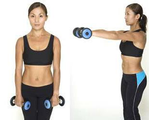 front dumbell raises,breast reduce exercises,women breast reduce workout