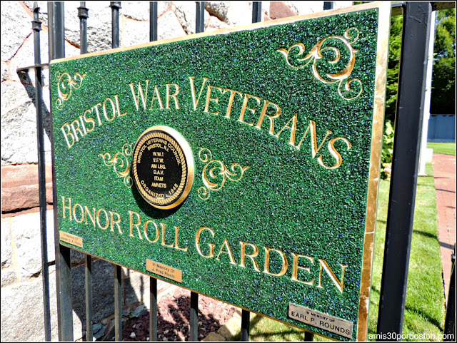 Bristol War Veterans Honor Roll Garden