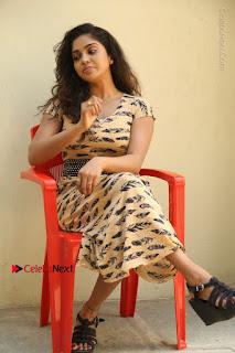 Telugu Actress Karunya Chowdary Stills in Short Dress at ATM Not Working Press Meet  0267.jpg