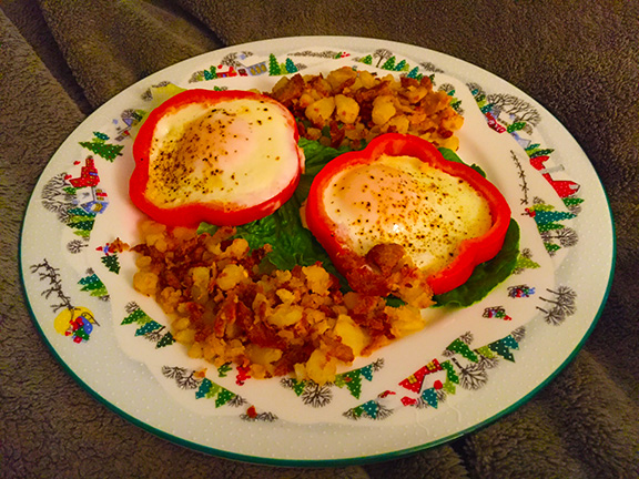 Christmas plate breakfast in bed gift