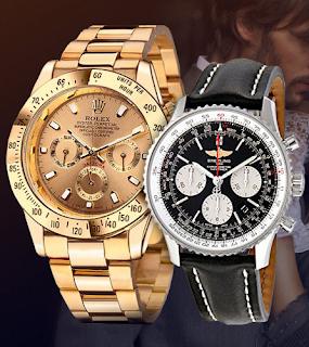 набор из двух роскошных моделей часов - Rolex Daytona и Breitling Navitimer