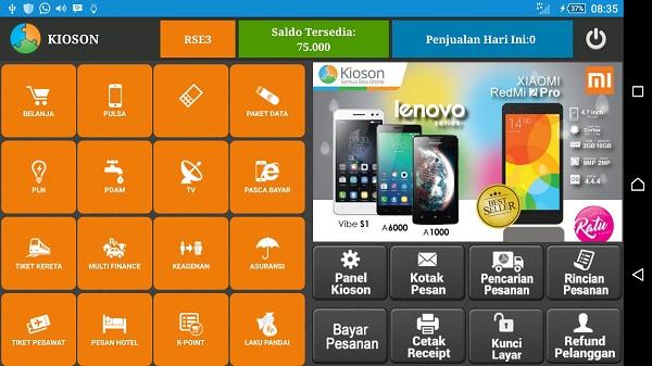 Menu Utama Aplikasi Kioson - Blog Mas Hendra