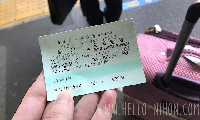 NEX Narita Express reserved ticket