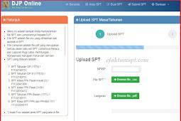 Aturan Upload CSV Excel eSPT ke DJP Online