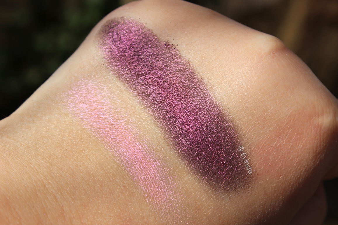 moda i-shine eyeshadow swatches
