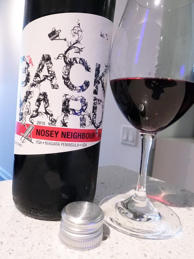 Backyard Vineyards Nosey Neighbour Cabernet Franc 2015 (87 pts)