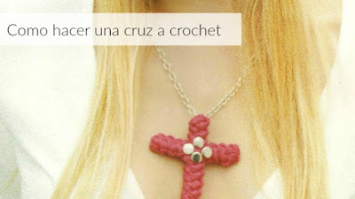 Cruz a crochet tutorial con los pasos