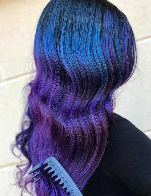 Mermaid Hair Color Idea - Purple Depths