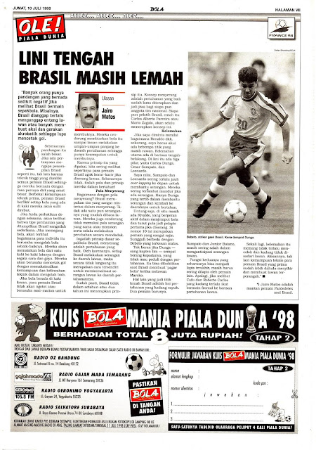 PIALA DUNIA 1998 FINAL BRASIL VS PRANCIS