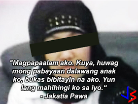 "An OFW in Kuwait is scheduled to be executed tomorrow, January 26, 2017, but her kins are never losing hope and appealing to President Rodrigo Duterte to help help the OFW because they believe that she is innocent.  Jakatia Pawa, an OFW in Kuwait was sentenced to death for the murder of her employer's daughter.  On January 19, 2010, the Court of Cassation (Kuwait's Supreme Court) affirmed the decision of the Court of Appeals sentencing Jakatia to death for killing the 22-year-old daughter of her Kuwaiti employer in 2007. The victim died of 28 stab wounds. The 32-year-old Overseas Filipino Worker (0FW) had been working for her employer for five years prior to the incident.      Her  family  is appealing to President Rodrigo Duterte to make a last hour attempt to save her life.  Lieutenant Colonel Gary Pawa said his sister Jakatia,  a domestic helper in Kuwait, told him in a phone call early Wednesday that her execution is scheduled on  Thursday.     (We spoke earlier and she was saying goodbye, she said she would be executed tomorrow, there are three of them),"" he told InterAksyon in a phone interview.  Pawa said his 42-year-old sister was crying on the phone.   (I was surprised when she called up today to say she would be executed tomorrow),"" he said,   Two months ago, he visited his sister  and her lawyer spoke to him of positive developments that might pave the way for her freedom this year.     However, Pawa still believe that his sister is innocent and President can still do something to save her sister from execution.   (We appeal to President Duterte to talk to Kuwait [authorities] to save the life of my sister),"" he said.  The Philippine government-hired lawyers to represent Jakatia has also sought the assistance of the King of Spain,  a friend of the Amir of Kuwait, to try and convince him to commute the sentence for humanitarian reasons.  Former President Gloria Macapagal-Arroyo also wrote the Amir to spare Jakatia's life. On her brothers phone conversation with Jakatia, the OFW bade goodbye  with a request to take good care of her kids.    A report by Maxxy Santiago, ABS-CBN Middle East News correspondent, said jail officials told Philippine Embassy officials about the execution scheduled at 7:30 Kuwait time (12:30 p.m. Manila time)   Follow Maxxy Santiago @maxxymize DFA top officials meeting with Kuwaiti CDA to discuss last ditch efforts to save Jakatia Pawa. Let's pray for Pawa! 12:07 PM - 25 Jan 2017 · Pasay City, National Capital Region   Retweets  11 like  Follow Maxxy Santiago @maxxymize Praying for a miracle that OFW Jakatia Pawa be spared from the gallows as she is set to be executed today along with 3 others in Kuwait. 12:04 PM - 25 Jan 2017 · Pasay City, National Capital Region   Retweets  22 likes   ©2017 THOUGHTSKOTO"