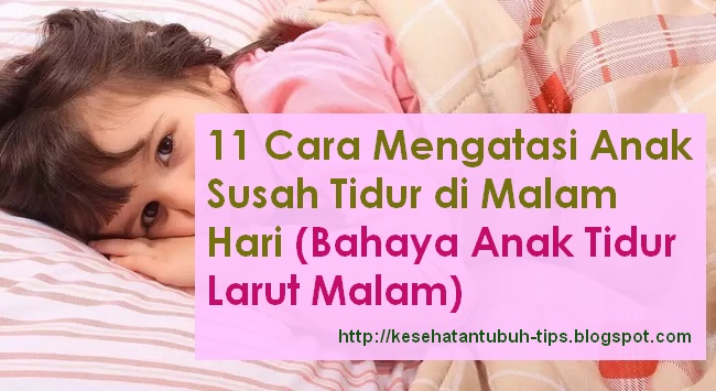 Bahaya dari anak yang tidur larut malam yaitu sanggup mengganggu perkembangannya Tumbuhan Berkhasiat  11 Cara Mengatasi Anak Susah Tidur di Malam Hari (Bahaya Anak Tidur Larut Malam)